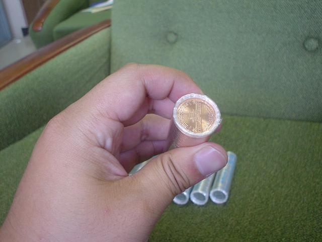新品の十円棒銀
