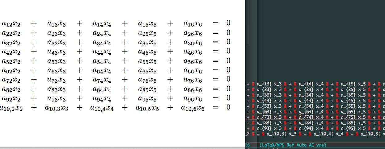 連立方程式 dysimeq 展開の様子